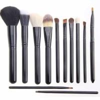 Kuas Make Up 12 Set dengan Case - Hitam