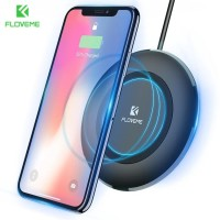 Floveme Qi Charger Wireless Qi untuk iPhone X8 / XR / Samsung Galaxy