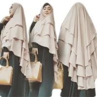 Jilbab Instan Hijab Syari Kerudung Jumbo Khimar Ceruti Sifon 3 Layer