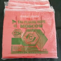 Kantong plastik/plastik murah/kresek warna/Moscow 28 MRH (KILO/HJU)