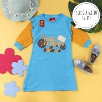 Dress Tunik Kaos Anak Perempuan Rempel Motif Sweet Food 2,4,6,8,10 Thn