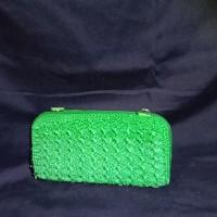 dompet rajut jogja istimewa murah hijau