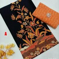 Kain batik dan embos hm primis hitam seragam bridesmaid adem halus pab