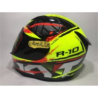 New HELM KYT R10 2 YELLOW FLUO BLACK RED FLUO FULL FACE