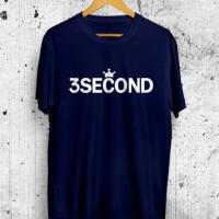 Kaos Distro 3Second 3Sco Three Second Baju Tshirt Atasan Pria Wanita B