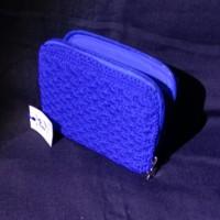 dompet rajut jogja istimewa murah biru