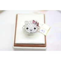 cincin hello kitty emas putih fashion original mas 75%