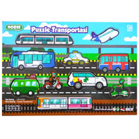 Mainan Kayu Edukasi / Mainan Anak - Puzzle Sticker Seri Transportasi