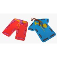 Mainan Kayu Edukasi / Mainan Anak - Papan Jahit Baju dan Celana