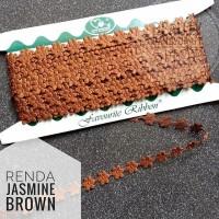 Renda jasmine melati brown per rol