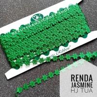 Renda jasmine melati hijau tua per rol