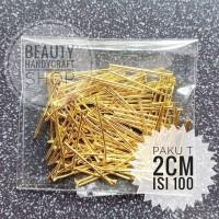 paku T uk 2.0cm gold 20gram