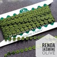 Renda jasmine melati olive per rol