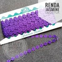 Renda jasmine melati ungu tua per rol