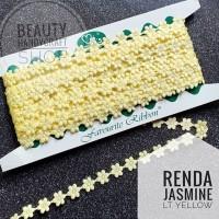 Renda jasmine melati light yellow per rol
