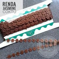 Renda jasmine melati coklat tua per Rol