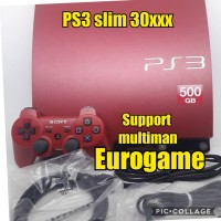 PS3 slim red HFW seri 30xxx hdd 500gb fullgame