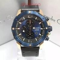 JAM TANGAN PRIA ALEXANDRE CHRISTIE AC 6410 ROSEGOLD BLACK DIAL BLUE