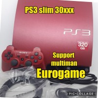 PS3 slim red HFW seri 30xxx hdd 320gb fullgame