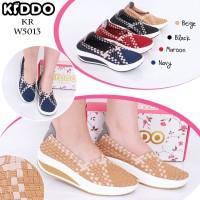 Sepatu Anyaman Kiddo Wedges W5013 PREMIUM IMPORT Wanita Rajut Oroginal