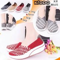 Sepatu Anyaman Kiddo Wedges W601 PREMIUM IMPORT Wanita Rajut Original
