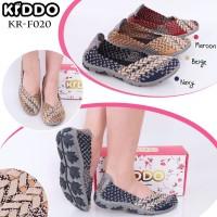 Sepatu Anyaman Kiddo Flat New 020 PREMIUM IMPORT Wanita Rajut Original