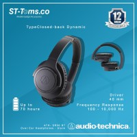 Audio Technica ATH-SR30BT / ATH- SR30 BT Over Ear Headphones -Charcoal