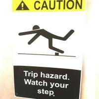 SIGN STIKER K3 SAFETY CAUTION TRIP HAZARD WATCH YOUR STEP 20 X 30CM