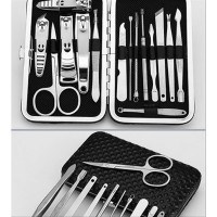 Gunting Kuku - Alat Manicure Pedicure Pouch Set 15 in 1
