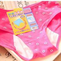 Celana Dalam Anti Tembus Bocor Menstruasi Datang Bulan Mens BUNGA
