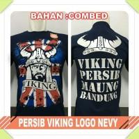 Baju Kaos Distro Suporter Persib Viking Logo Bandung Pria Wanita