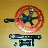 Jual Crank set Sepeda Lipat Litepro Dual chainring 5339T