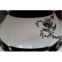 Stiker Kap Mesin Mibil Stiker Motiv Bunga Stiker keren R51