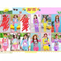 Baju Renang/Swimsuit Lol, Unicorn celana panjang size 8th -13th