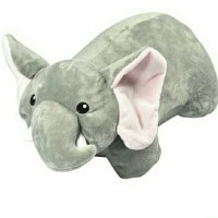 Bantal Leher Lipat Elephant,boneka bantal, neck pillow, lucu,travel