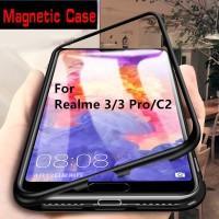 Casing Oppo Realme 3 Pro C2 Phone Case Magnetic Magnet Metal Frame Bum