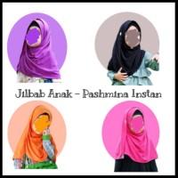Jilbab Anak bahan kaos Pashmina Anak size S 3 - 5 tahun Kerudung Anak