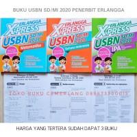 BUKU ERLANGGA X-PRESS UN USBN SD MI 2020 HARGA 1 PAKET DAPAT 3 BUKU