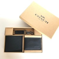 DOMPET COACH GIFT SET MAN ORIGINAL BLACK
