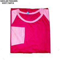 ORI Belle Fashion Baju Kaos Jumbo T-Shirt Lengan Panjang Raglan