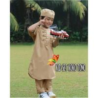 Set Koko Tono Kid Maroon Navy Coksu Abu Baju Muslim Anak Laki2 9-12th