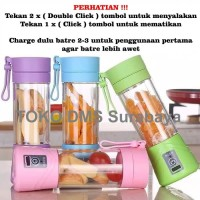 Mini Juice Portable USB Rechargeable Blender Modern Praktis Shake N Go