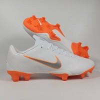 Sepatu Bola Vapor XII Pro White Orange FG Replika Impor