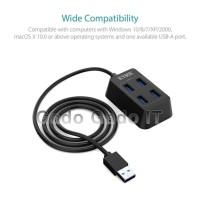 ICYBOX HU-4568 USB HUB 4 Port USB 3.0 Adaptor Charger SuperSpeed Data