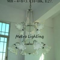 Lampu Gantung Minimalis 908/4+8 CHBK
