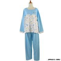 Baju tidur piyama wanita ukuran jumbo stelan lengan panjang JPP04213