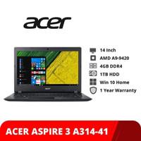 """ACER ASPIRE A314 AMD A9   4Gb  1TB   DVD   VGA R5   14""""  WIN10 RESMI"""