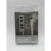 NYK USB HUB 3.0 4 port Type C 3.0 5 GBps High Speed - NYK-HB-UB30TC4