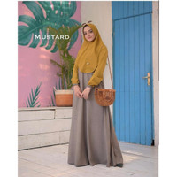 Baju Syari Muslim Wanita Baju Gamis Hijabers Mawar Syari Murah Terbaru