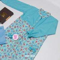 Baju Gamis Anak Zahra dengan Kerudung 3 sd 7 Tahun - Biru